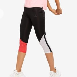Adidas Own the Run 3/4 Tights Black/Glory Red